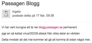 Passagen_Blogg_stängd