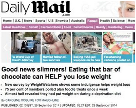 Daily Mail - choklad