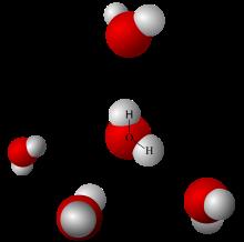 Vätebindningar i vatten