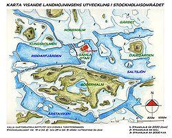 Den postglaciala landhöjningens effekter på strandlinjer i Stockholmsområdet