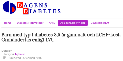 Dagens Diabetes 25 feb 2016