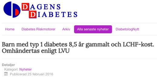 Dagens Diabetes 25 feb 2016