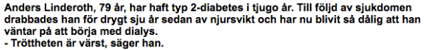 Anders Linderoth - ingress om diabetes typ 2