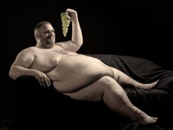 Extremt tjock man