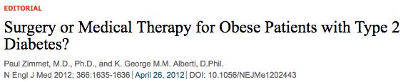 NEJM Obesity surgery