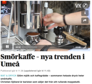 Smörkaffe i Umeå